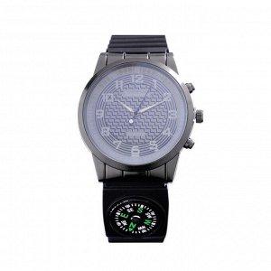 Часы наручные Kanima 2535, d=4.4  см, с компасом, силикон