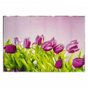"""Наклейка на кафельную плитку """"Фиолетовые тюльпаны"""" 60х90 см"""