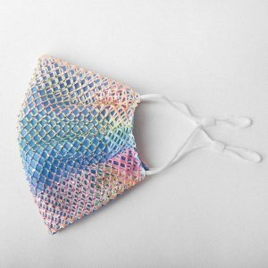 Маска декоративная, сеточка, разноцветный