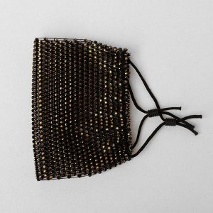 Маска декоративная, полупрозрачная, цвет золото в чёрном