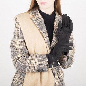 Перчатки женские безразмерные, с утеплителем, для сенсорных экранов, цвет чёрный