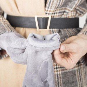 Перчатки женские безразмерные, без утеплителя, для сенсорных экранов, цвет светло-серый