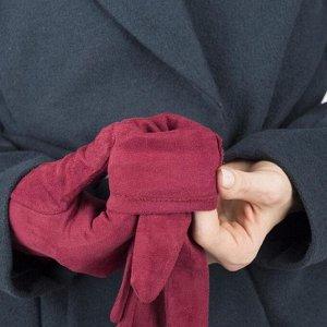 Перчатки женские безразмерные, без утеплителя, для сенсорных экранов, цвет бордовый