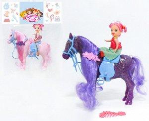 B4-008 Bantik Club. Лошадка блестящая с куколкой