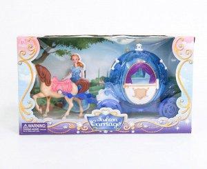 "SS022A Карета для кукол  ""Принцесса на прогулке"", в кор."