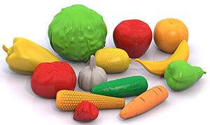 """Нордпласт Набор """"Фрукты, овощи"""" (13 предметов в сетке)"""