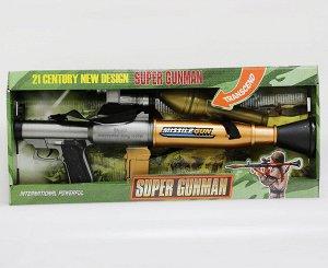 Гранатомет Детский гранатомет отлично подойдет для мальчика, который любит сюжетные игры с военной тематикой. Он выглядит очень реалистично, так как он тщательно и детально проработан. Игрушка оснащен