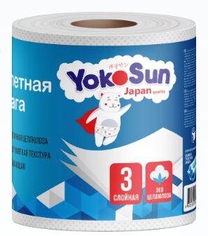 Туалетная бумага 3-х слойная 40 м. 1 рулон. (блок 10шт.)