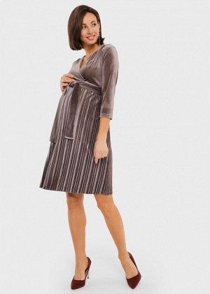 """Платье """"Виксен"""" для беременных и кормящих; кофейный"""