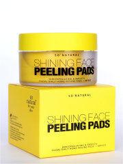 So Natural Shining Face Peeling Pads, Пилинг-пэды с витамином С 80шт