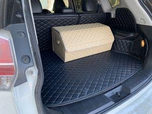 Органайзер Большой Эко Кожа в багажник авто Бежевый Akuma