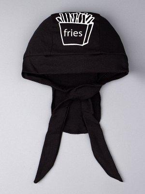 Бандана трикотажная для мальчика fries, черный