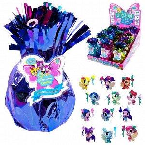 Кукла фея в блестящем сюрпризе, с 6-ю аксессуарами, 14 видов в коллекции, 12 шт. в дисплее4524