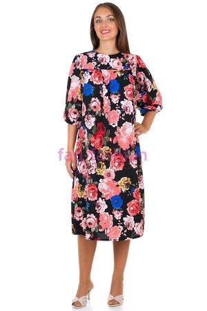 Платье БР Rose Розы на черном