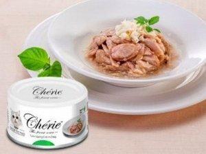 Pettric Cherie Hairball Control влажный корм для кошек для вывода шерсти Тунец с мясом краба в подливе 80гр