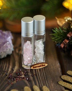 Флакон бутылочка для духов с минералами