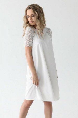 Платье с рукавами из кружева