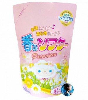 """RS Кондиционер для белья """"FuwaFuwa Softer"""" фруктово-цветочный аромат сменная упаковка 2000 мл."""