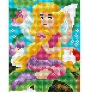 Набор ДТ Алмазная мозаика Красивая фея 17*22см с подрамником AS17006