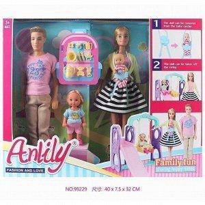 Кукла 99229 Anlily Семья с аксесс. в кор.