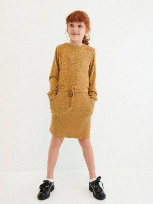 Трикотажное платье из комбинированной ткани