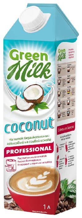 Professional Green Milk Coconut Кокосовый напиток на соевой основе 1л ( 1/12)