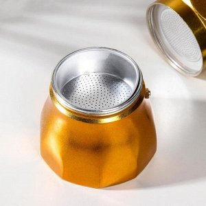 Кофеварка гейзерная «Белланто», на 9 чашек, цвет золотой