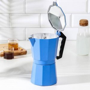 Кофеварка гейзерная «Гармония», на 9 чашек, цвет тёмно-голубой