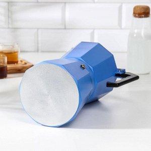 Кофеварка гейзерная «Гармония», на 12 чашек, цвет тёмно-голубой