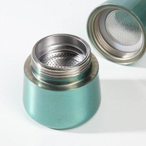Кофеварка гейзерная «Блеск», на 4 чашки, цвет морской