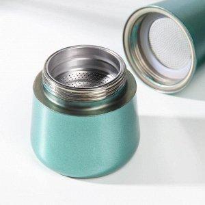Кофеварка гейзерная «Блеск», на 6 чашек, цвет морской