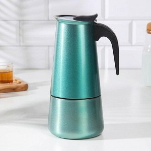 Кофеварка гейзерная «Блеск», на 12 чашек, цвет морской