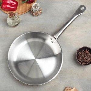 Сковорода d=28 см, h=5 см, тройное дно, индукция
