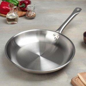 Сковорода d=30 см, h=5 см, тройное дно, индукция