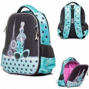 Рюкзак ERGONOMIC light -Парижские каникулы 38х29х12,5 см 45009 Hatber