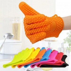 Прихватка-перчатка силиконовая, в ассортименте