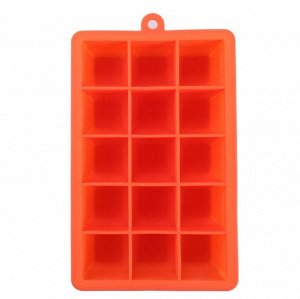 Форма для льда - кубики (15 ячеек)