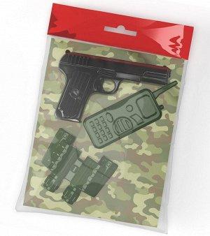 Оружие пластиковое Пистолет. Рация. Бинокль