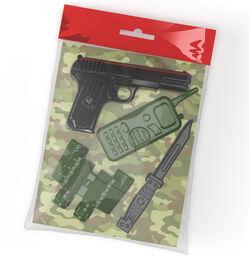 Оружие пластиковое Пистолет. Рация. Бинокль. Нож