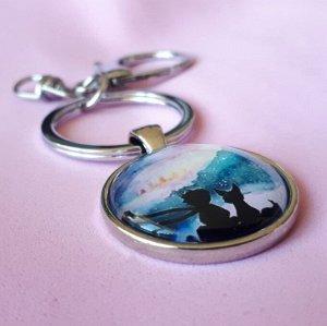Брелок для ключей Маленький Принц и Лис
