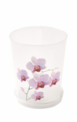Кашпо Кашпо  0,7л Д10,0см с под [ОРХИДЕЯ] ПРОЗРАЧНЫЙ. Данный цветочный горшок идеально подходит для выращивания изящной орхидеи дома или в офисе. Ведь для роста и цветения этой капризной красавицы дол