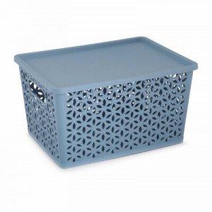 Корзина Корзина   380*285*210мм [МИРАЖ] СИНИЙ. Корзина предназначена для хранения мелочей в ванной, на кухне, на даче или в гараже. Данное изделие позволит хранить мелкие вещи, исключая возможность их
