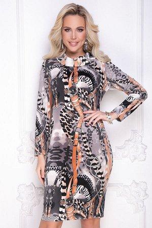 Платье майдалина (блэк оранж)