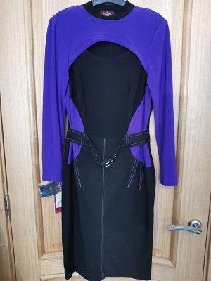 Платье черно-фиолет