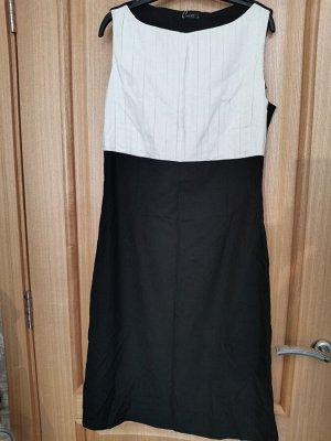 Платье черно-белое