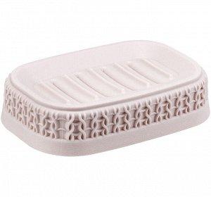 Мыльница Мыльница [ВЯЗАНИЕ] ЧАЙНАЯ РОЗА. Стильный аксессуар для хранения мыла Пластик высокого качества, из которого выполнено изделие, обеспечивает простоту в уходе, прочность и долговечность. Рифлен