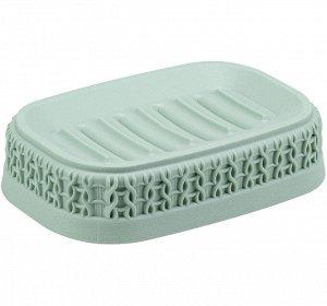 Мыльница Мыльница [ВЯЗАНИЕ] ФИСТАШКОВЫЙ. Стильный аксессуар для хранения мыла Пластик высокого качества, из которого выполнено изделие, обеспечивает простоту в уходе, прочность и долговечность. Рифлен