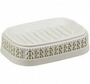 Мыльница Мыльница [ВЯЗАНИЕ] БЕЛЫЙ РОТАНГ. Стильный аксессуар для хранения мыла Пластик высокого качества, из которого выполнено изделие, обеспечивает простоту в уходе, прочность и долговечность. Рифле