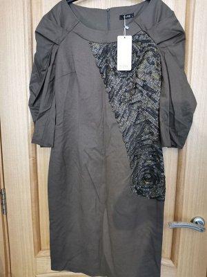 Платье коричневый