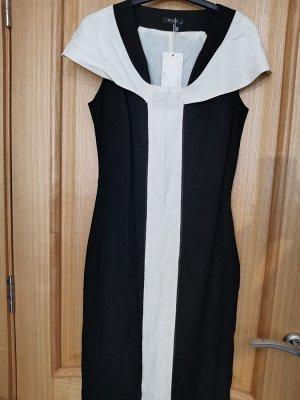 Платье чено-белое